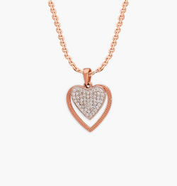 The Dual Heart Diamond Pendant