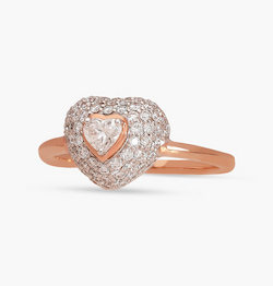 The Puffed Heart Ring