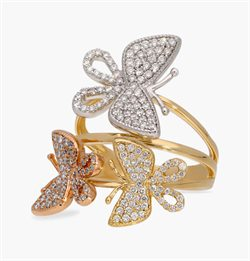 The Three-tone Butterfly Ring